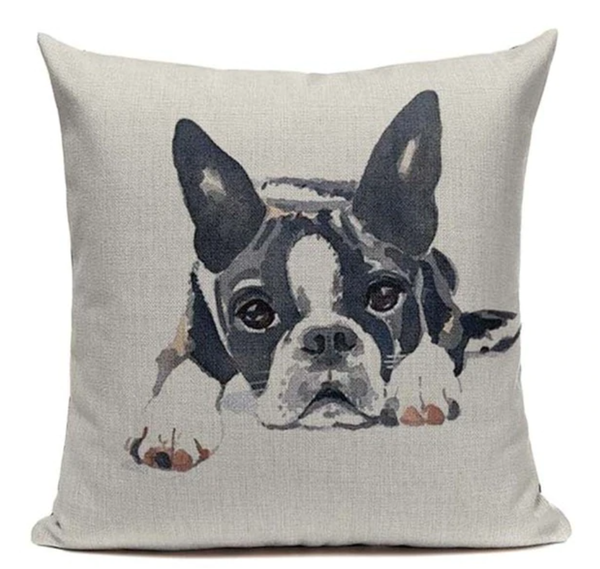 Boston Terrier Painting Dog Pillow B17