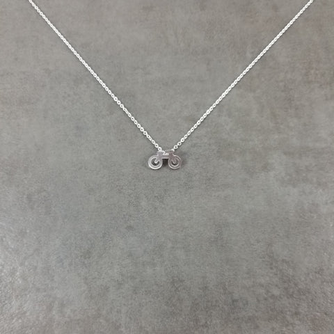 Bicycle Silver Necklace