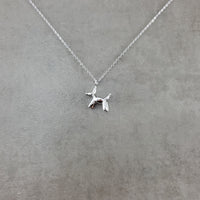 Dog Balloon Animal Silver Necklace