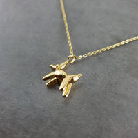 Dog Balloon Animal Gold Necklace