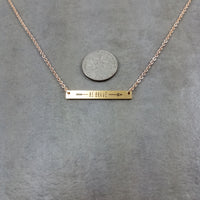Bar Be Brave Gold Necklace