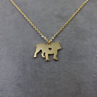 Bulldog Gold Necklace