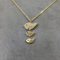 Bird Family Gold Necklace