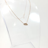 Bear Rose Gold Necklace