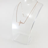 Heartbeat Rose Gold Necklace