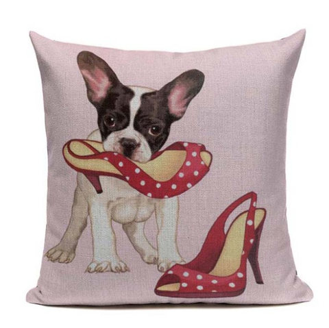 Boston Terrier Shoes Pillow B9