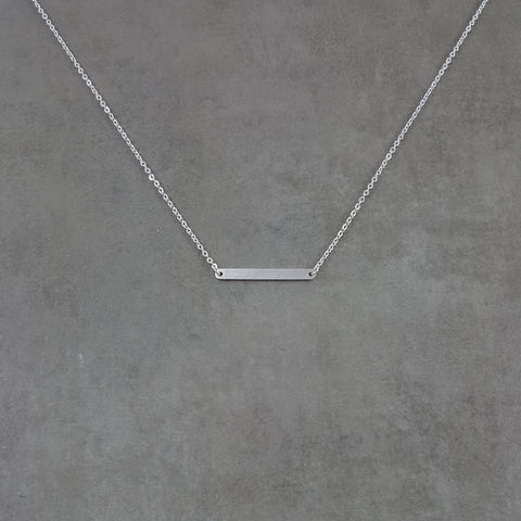 Bar Rounded Silver Necklace