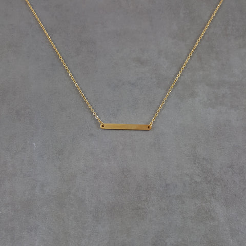 Bar Rounded Gold Necklace