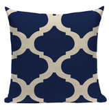 Blue Pattern Pillow BG1
