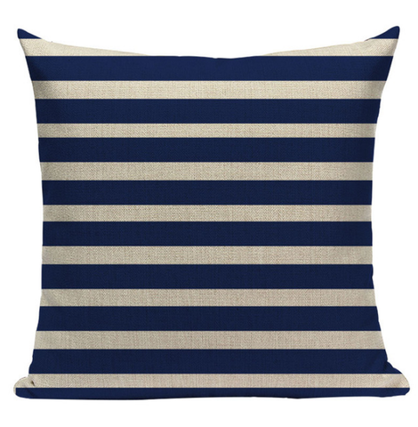 Blue Striped Pillow BG2