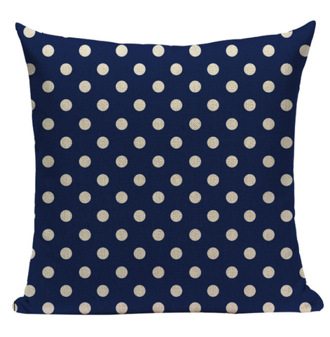 Blue Polka Dot Pillow BG3