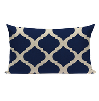 Blue Pattern Pillow Small BGS1