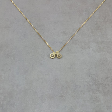 Bicycle Gold Necklace