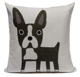Boston Terrier Dog Cartoon Body Pillow B3