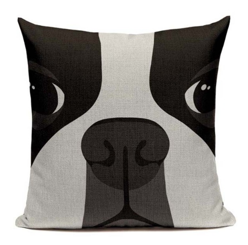 Boston Terrier Puppy Dog Pillow B14