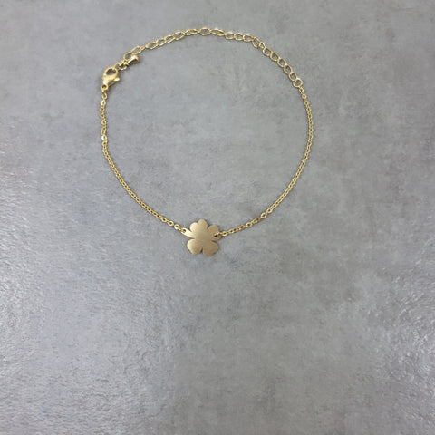 Four Leaf Clover Gold Bracelet