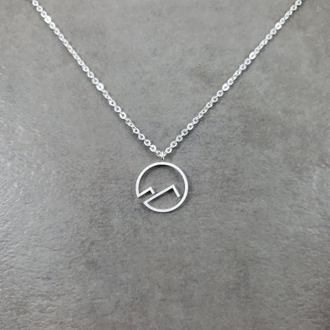 Circle Mountain Silver Necklace