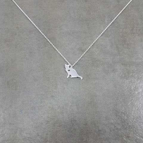 Cat Silver Necklace