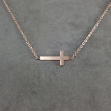 Cross Rose Gold Necklace