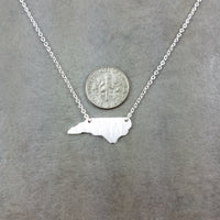 North Carolina State Silver Necklace