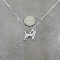 Chihuahua Dog Silver Necklace