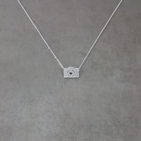 Camera Silver Necklace