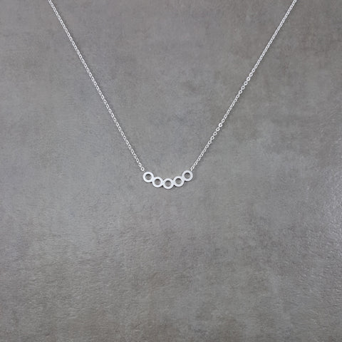 Circles Series Silver Necklace
