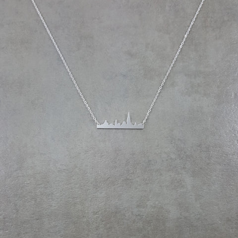Cityscape Silver Necklace
