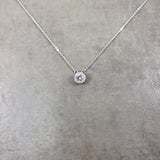 Dot CZ Silver Necklace