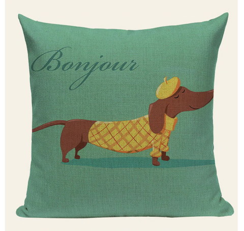 Bonjour Dog Pillow Cover DOG11