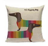Hot Diggedy-Dog Pillow DOG8