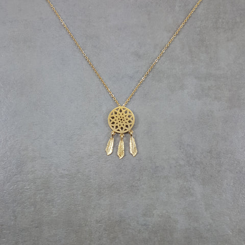 Dream Catcher Gold Necklace