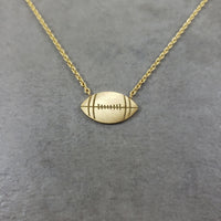 Football Gold Necklace