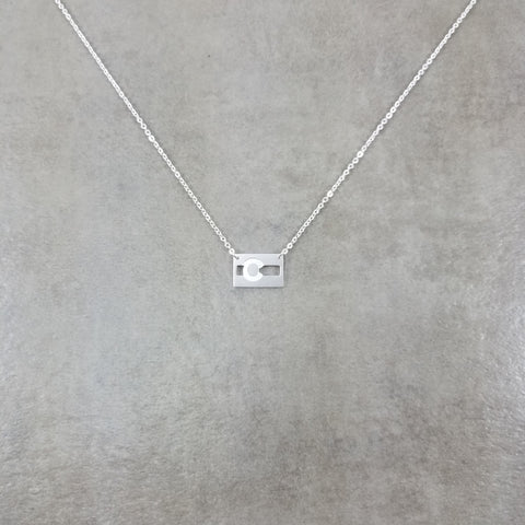 Colorado Flag Silver Necklace