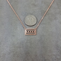Chicago Flag Rose Gold Necklace