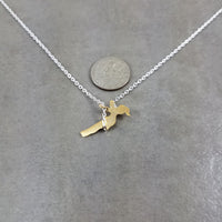 Girl on Swing Silver Necklace
