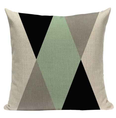Green Pattern Pillow GG1