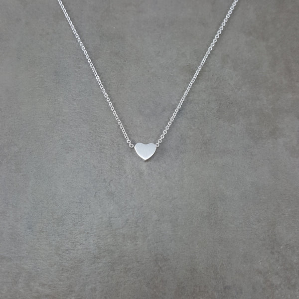 Heart Tiny Silver Necklace