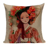 Japanese Geisha Hat Pillow JP10