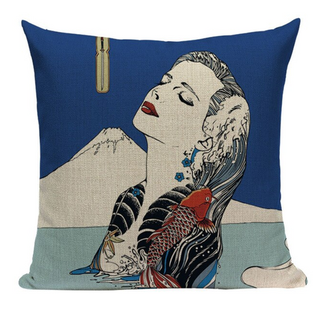 Japanese Geisha Tattoo Pillow JP14
