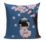 Japanese Kimono Girl Pillow Cover JP17