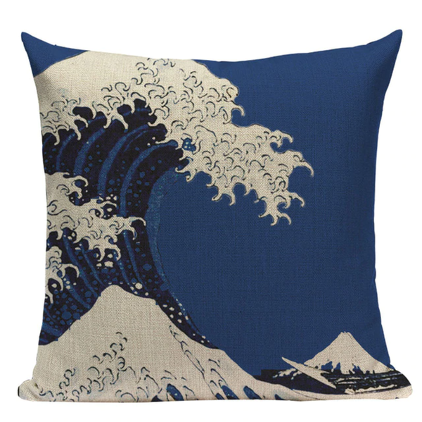 Blue Ocean Waves Pillow JP19