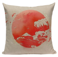 Japanese Peach Sun Pillow Cover JP26
