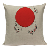 Japanese Sun and Koi Pillow JP6