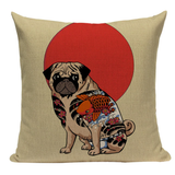 Tattoo Pug Pillow JP8