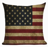 Vintage United States Flag Pillow Cover L10