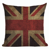 Vintage United Kingdom Flag Pillow Cover L11