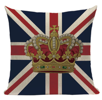 United Kingdom Crown Flag Pillow Cover L13