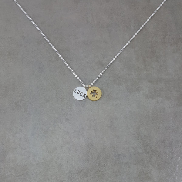 Lucky Irish Silver Necklace