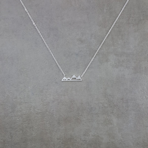 Mountains Silver Necklace